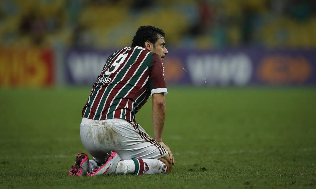 A desolação de Fred na goleada para o Palmeiras Alexandre Cassiano / Agência O Globo