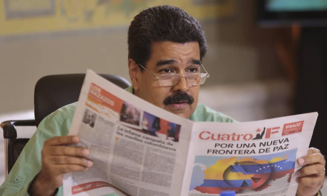 Maduro em seu programa semanal; ataques em sequência Foto: / REUTERS/15-9-2015