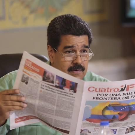 Maduro em seu programa semanal; ataques em sequência Foto: REUTERS/15-9-2015