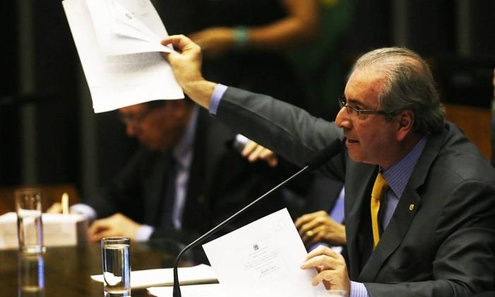 O presidente da Câmara, Eduardo Cunha (PMDB-RJ) Foto: Jorge William