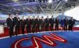 Todos os pré-candidatos republicanos, lado a lado, antes do debate