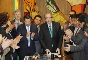 Presidente da Câmara recebe novo pedido de impeachmente da presidenta Dilma Foto: Ailton de Freitas / Agência O Globo