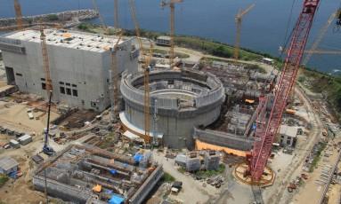 As obras da usina de Angra 3, em 2013 Foto: Divulgação / Agência O Globo