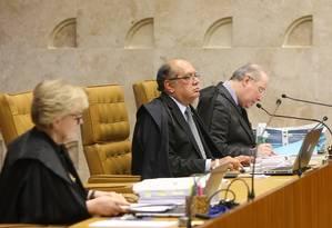 Ministros do STF julgam constitucionalidade de doações de empresas a campanhas eleitorais Foto: Agência O Globo