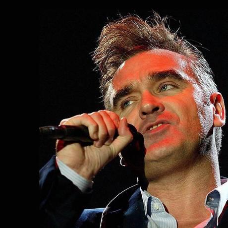 O cantor Morrissey Foto: Terceiro / Agência O Globo