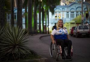 A cadeirante Ana Paula Constâncio, agente da Operação Lei Seca, foi atropelada por um motorista bêbado aos 24 anos Foto: Daniel Marenco