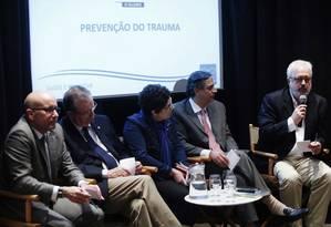 Sérgio Cortês, Ricardo Cruz, Cláudio Domênico e Nelson Goldenstein, com mediação de Viviane Nogueira Foto: Ana Branco