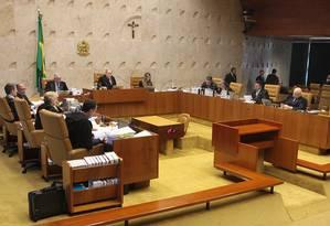 O plenário do Supremo Tribunal Federal Foto: Nelson Jr/STF