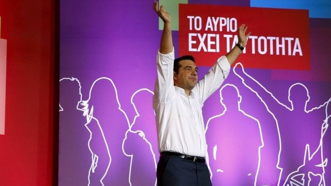 O ex-premier Alexis Tsipras: em busca de discurso coerente Foto: PAUL HANNA / REUTERS
