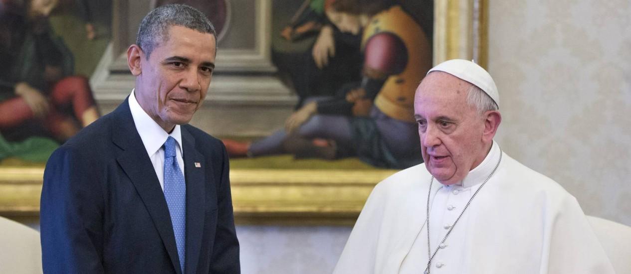 Em março de 2014, Barack Obama encontrou o Papa Francisco no Vaticano: agenda agora vai ser política Foto: Pablo Martinez Monsivais / AP