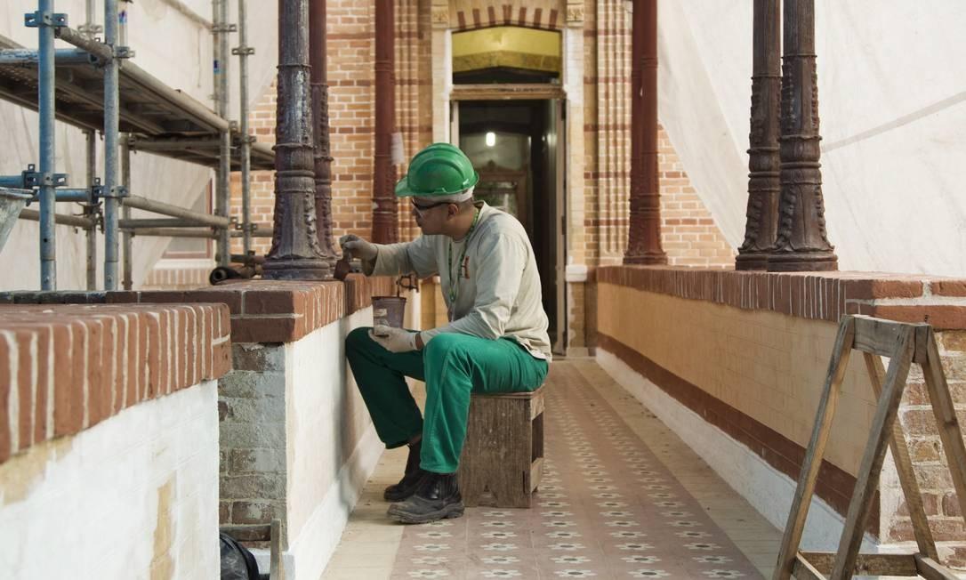 A revitalização do museu está sendo feita desde 2007 e 75% das obras foram concluídas Foto: / Guilherme leporace