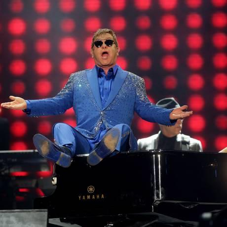 Elton John no Palco Mundo do Rock in Rio Foto: Rafael Moraes / Agência O Globo