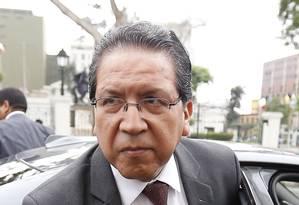 Caso pode virar um dos escândalos mais graves de corrupção no Peru, diz o procurador-geral do Peru, Pablo Sánchez Velarde Foto: Hugo Perez / Agencia O Globo
