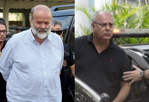 Ex-tesoureiro do PT João Vaccari Neto (à esq.) e o ex-diretor de Serviços da Petrobras Renato Duque Foto: Montagem / Reuters e O Globo