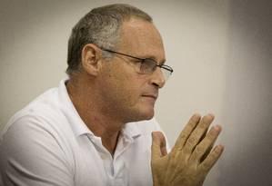 Beltrame eleva o tom ao reivindicar apoio Foto: Fernando Lemos / Agência O Globo