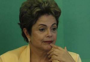 A presidente Dilma Roussef Foto: Givaldo Barbosa