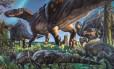 Ilustração mostra como seria o dinossauro recém-descoberto