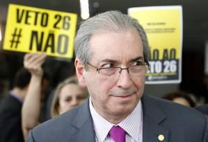 Presidente da Câmara dos Deputados Eduardo Cunho (PMDB-RJ) durante entrevista Foto: Ailton de Freitas / Agência O Globo