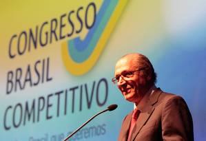 O governador de Sao Paulo Geraldo Alckmin Foto: Pedro Kirilos / Agência O Globo