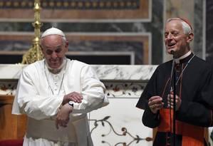 Papa em visita à Catedral de São Mateus, em Washington, nesta terça-feira Foto: Susan Walsh / AP