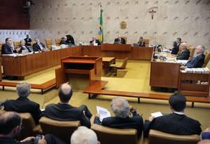 A sessão do STF desta quarta-feira Foto: Divulgação/STF