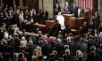 Papa foi aplaudido por congressistas em seu discurso
