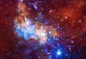 Imagem de Sagittarius A* captada pelo observatório espacial Chandra X-ray Foto: NASA