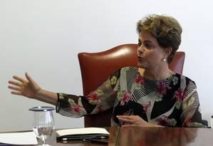 A presidente Dilma Rousseff Foto: Givaldo Barbosa