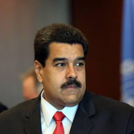 O presidente da Venezuela, Nicolás Maduro, pode se encontrar nesta sexta-feira com seu homólogo da Guiana Inglesa, David Granger, na Assembleia-Geral da ONU, em Nova York Foto: SPENCER PLATT / AFP