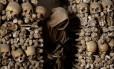 Ossadas. A Cripta dos Capuchinhos abriga esqueletos de quatro mil monges