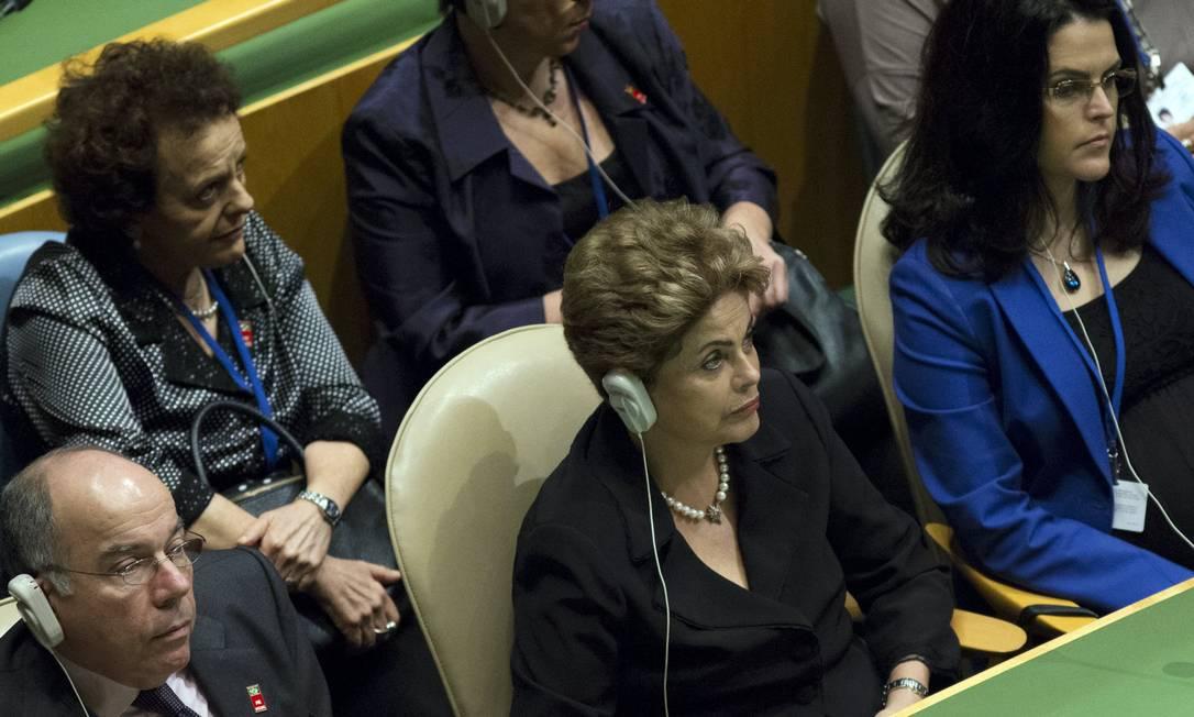 Dilma acompanha o discurso do Papa esta sexta-feira na ONU Foto: ANDREW KELLY/Reuters /