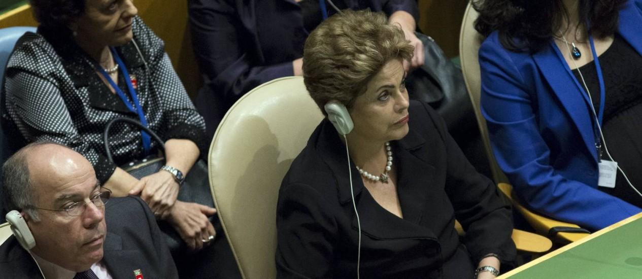 Dilma acompanha o discurso do Papa esta sexta-feira na ONU Foto: ANDREW KELLY/Reuters