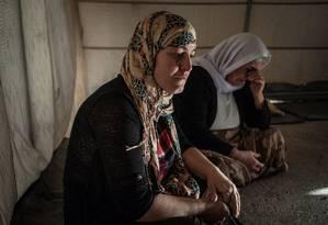 Meses de horror. Sahira foi forçada a casar com soldado do Estado Islâmico e ficou em cativeiro com três filhos: fuga custou US$ 10 mil Foto: Alice Martins