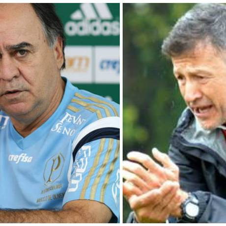 Marcelo Oliveira e Juan Carlos Osorio, técnicos de Palmeiras e São Paulo Foto: Divulgação