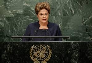 Dilma discursa na ONU Foto: Richard Drew / AP