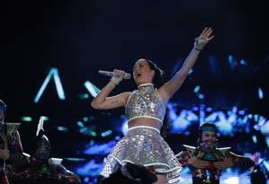 Kary Perry no palco Mundo Foto: Guito Moreto / Agência O Globo