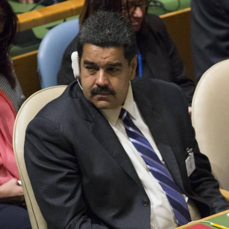 Nicolas Maduro está nos Estados Unidos para participar da 70ª Assembleia Geral da ONU Foto: KENA BETANCUR / AFP