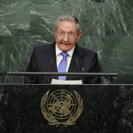 Com fala moderada, Raul reforçou opiniões contra as intervenções ocidentais Foto: Frank Franklin II / AP