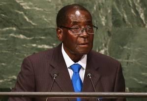 Mugabe, na sessão da Assembleia Geral Foto: JOHN MOORE / AFP