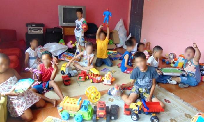 Arrecadação em 2014. Na foto, as crianças do Lar do Méier Foto: Divulgação