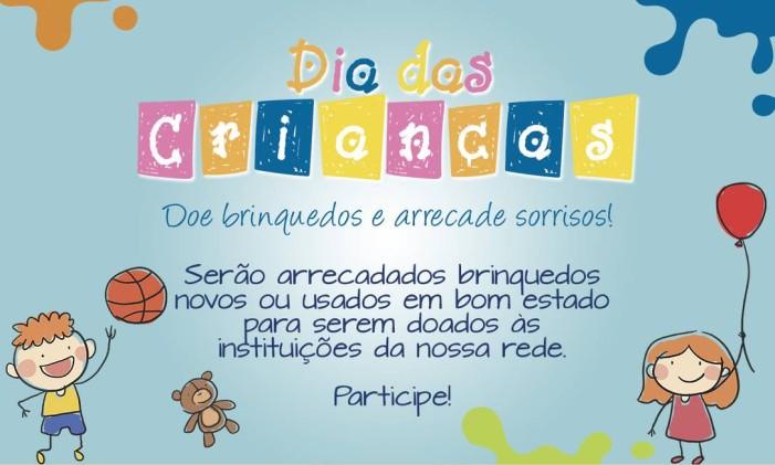 O cartaz da campanha do Instituto da Criança Foto: Divulgação