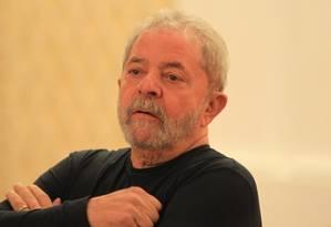 Ex-presidente Luiz Inácio Lula da Silva Foto: Marcos Alves / Arquivo O Globo