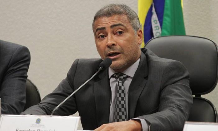 Romário manteve as críticas de que a convocação da seleção não usa critérios técnicos Foto: Ailton de Freitas/ Agência O Globo
