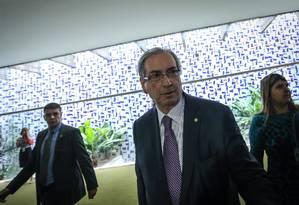 Cunha articula votação da PEC da reforma política e do veto de Dilma a doações de empresas Foto: ANDRE COELHO / Agência O Globo