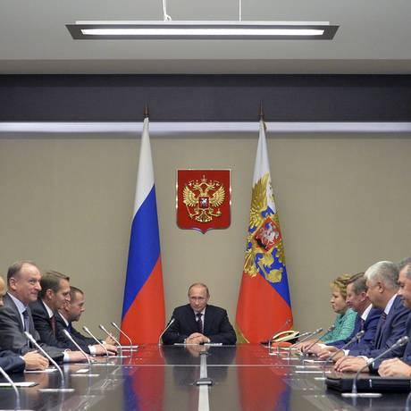 Putin e seu conselho de segurança se reúnem após ida a Nova York Foto: RIA NOVOSTI / REUTERS