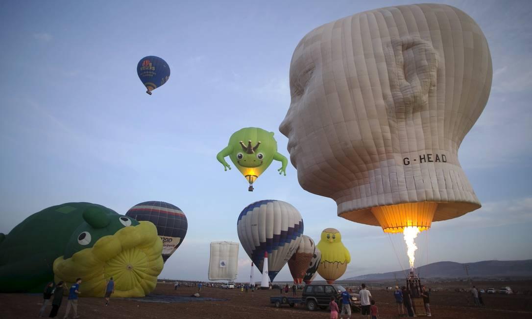 Alguns balões têm formas e decorações especiais BAZ RATNER / REUTERS