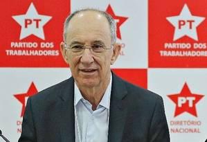 Presidente do PT, Rui Falcão Foto: Instituto Lula / Divulgação