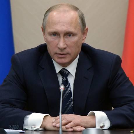 O presidente russo, Vladimir Putin, durante reunião em Moscou Foto: Alexei Nikolsky / AP