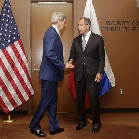 Kerry questionou ação russa na Síria Foto: Joshua LOTT / AFP
