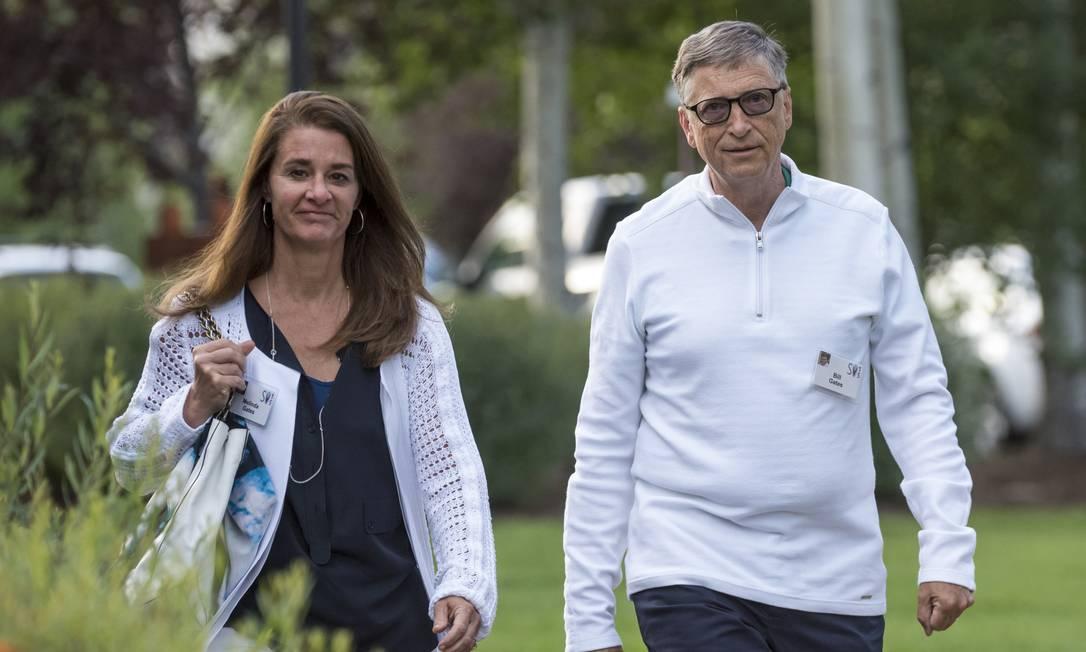 Bill Gates com a mulher, Melinda Foto: David Paul Morris / Bloomberg